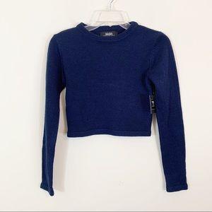 Lulu's • Blue Cropped Sweater Size Small
